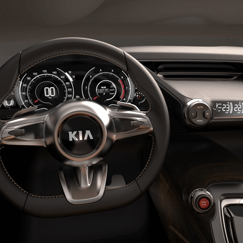 Interior de un Kia Sportage 2018. Promoción 30 carros con Banco Atlántida con tus Tarjetas de crédito y Débito