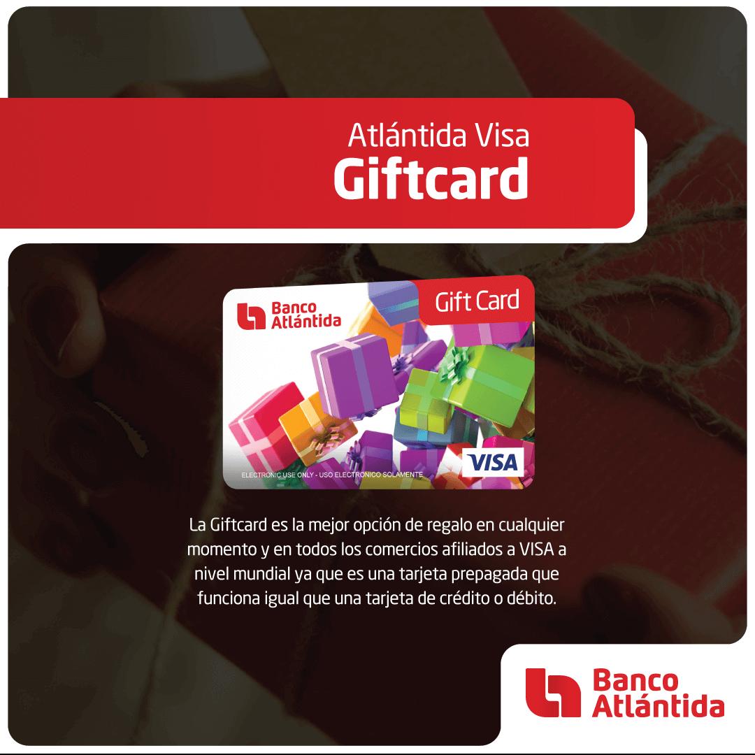 Atlantida Visa Giftcard Banco Atlantida